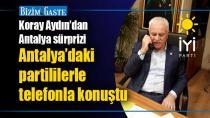 Koray Aydın'dan Antalya sürprizi