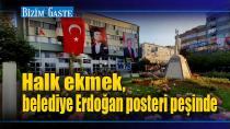 Halk ekmek, AKP'li belediye poster peşinde