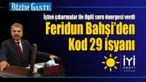 Feridun Bahşi'den Kod 29 isyanı